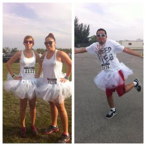 All clean & white in our tutus.