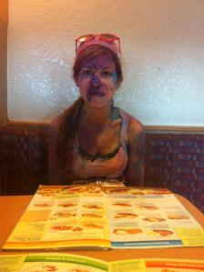At Ihop for a post race breakfast.