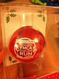 Finishers received this ornament.