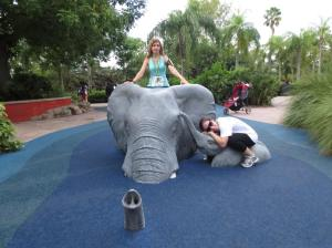 Elephant rides with Allie.