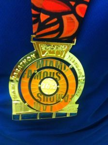 1st Marathon medal.