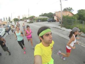 running selfie taken by Mr Run Club :)